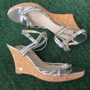 MICHAEL Michael Kors Wedge Sandals Silver 11